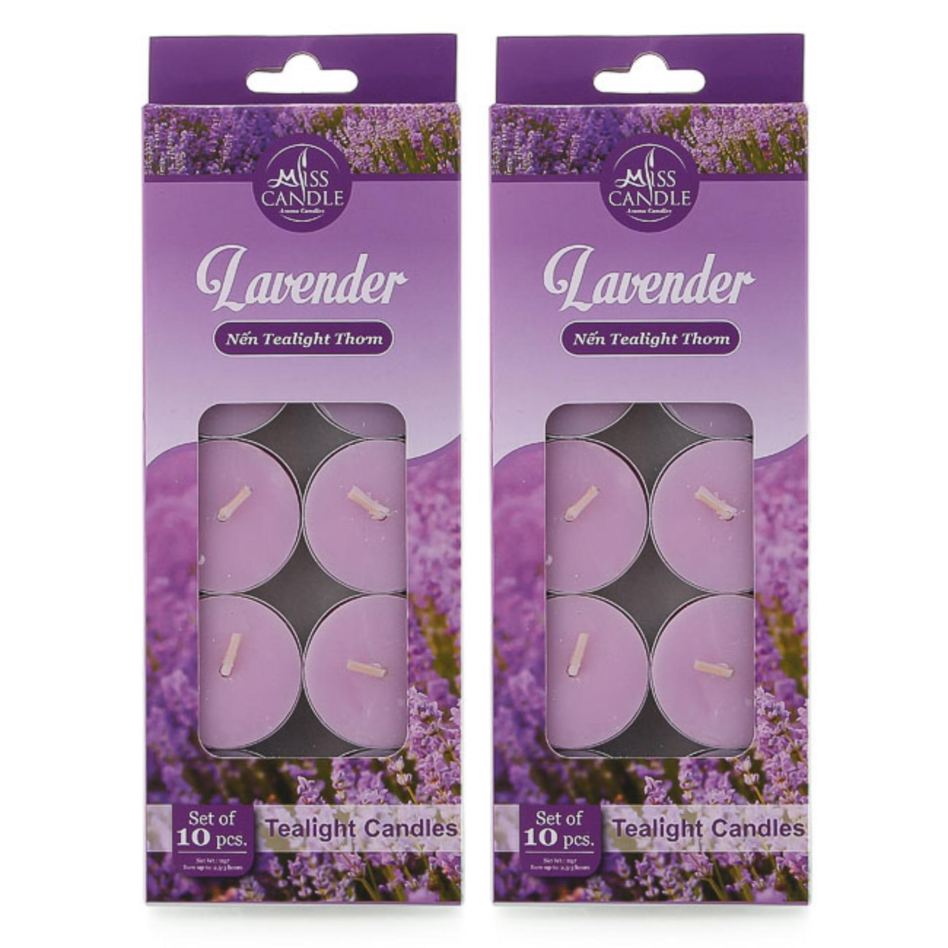 Bộ 20 nến tealight thơm hương oải hương Miss Candle FtraMart FTM-NQM0147 (Tím)