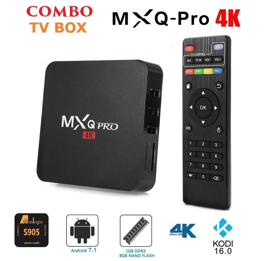 Tivi Box MXQ-4K Pro Với Android 7.1.2 Siêu Mạnh SIêu Nhanh Phiên bản 2018