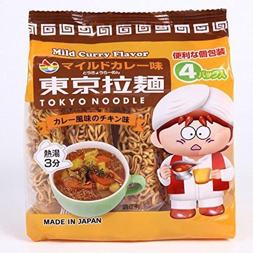 Mì Ăn Liền Tokyo Noodle Vị Cari 120G Nhật Bản 4 Gói/bịch