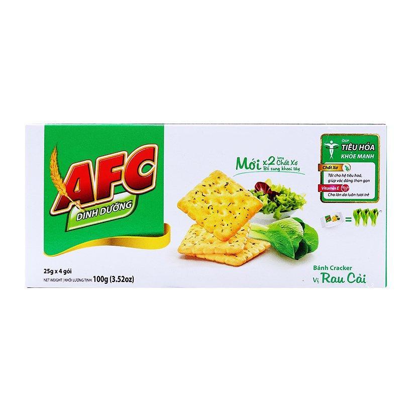 Combo 2 Hộp Bánh Cracker dinh dưỡng AFC vị rau 100g