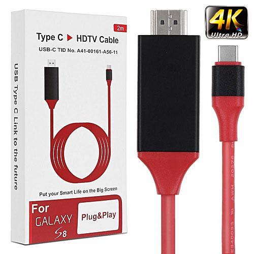 Cáp Type C ra HDTV chuẩn 4K UltraHD dài 2m cho Galaxy A, S và Note