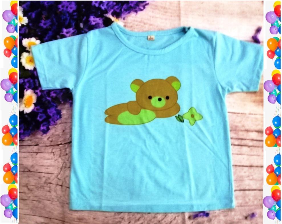 Áo thun trẻ em màu xanh (baby)
