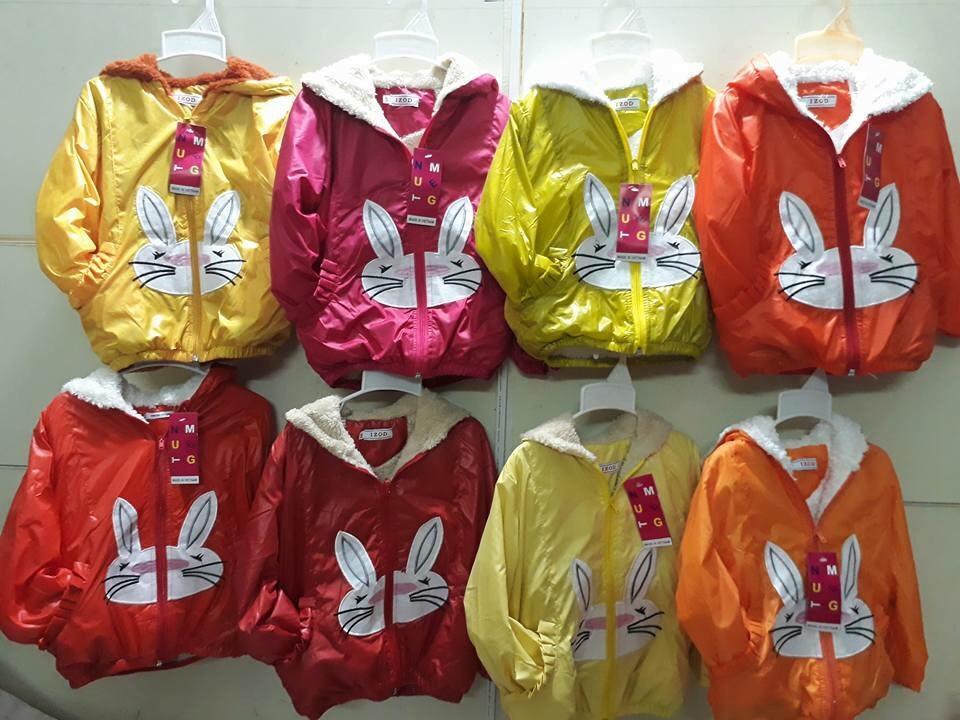 Áo gió lót lông (NỈ) hình thỏ cho bé trai/gái. Size 12-20kg