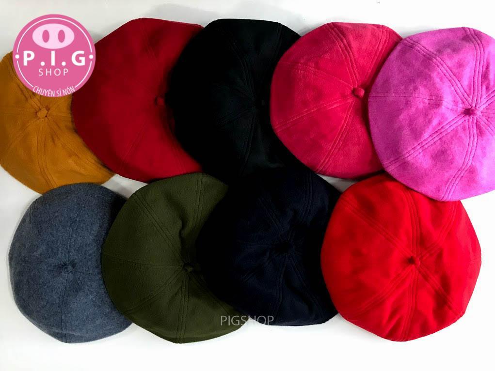 Nón Beret Mũ nồi nón bánh tiêu 100% vải Wool cho Nữ 2018