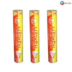 Combo 03 ống quả cầu lông HẢI YỂN đỏ vàng ( loại 12 quả/ ống)