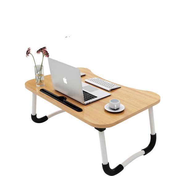 Bàn học gấp gọn để laptop có khe để Ipad gấp tiện dụng