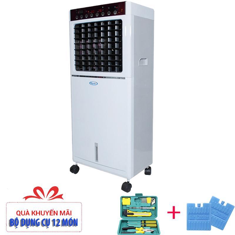 Máy làm lạnh không khí bằng hơi nước Kachi 20PC + (Tặng dụng cụ 12 món vs 2 viên đá gel)