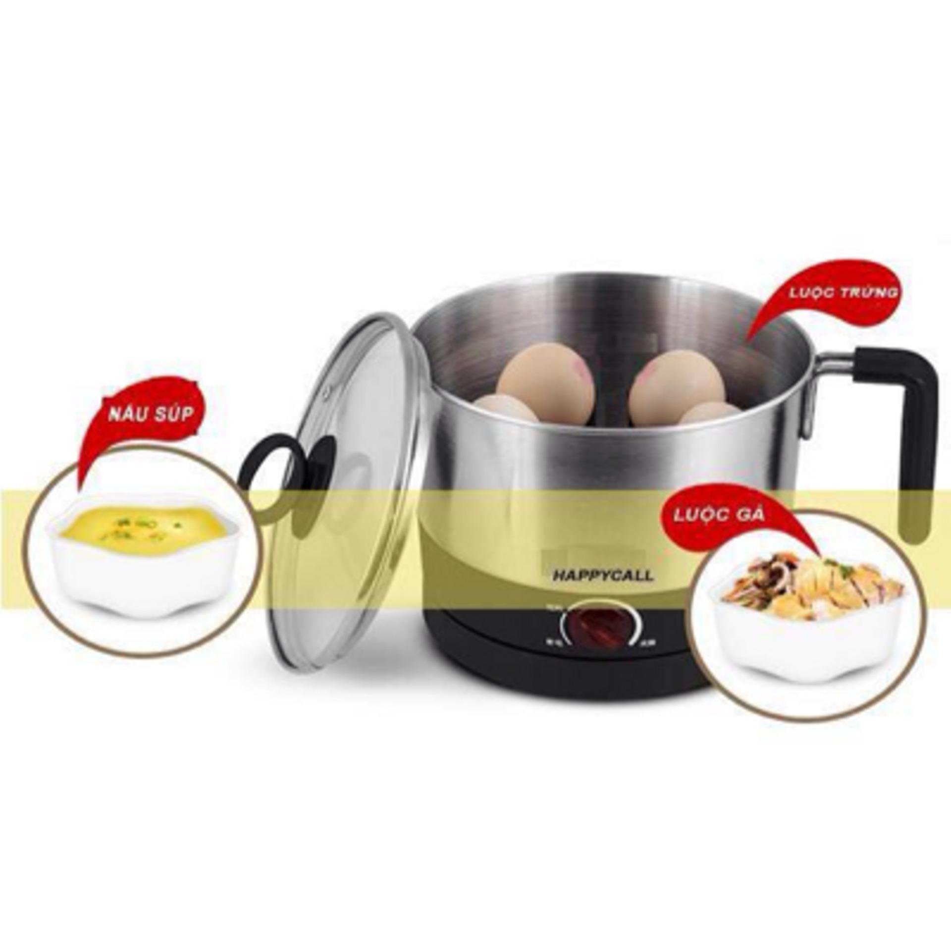 Noi Com Dien Da Nang Cua Nhat Ca Nấu Mì Đa Năng Hàn Quốc Happycall Bks 999(Nấu Nước + Đun Mì + Nấu Lẩu + Chiên Rán+ Luộc Trứng) Tiện Lợi Cho Mọi Gia Đình
