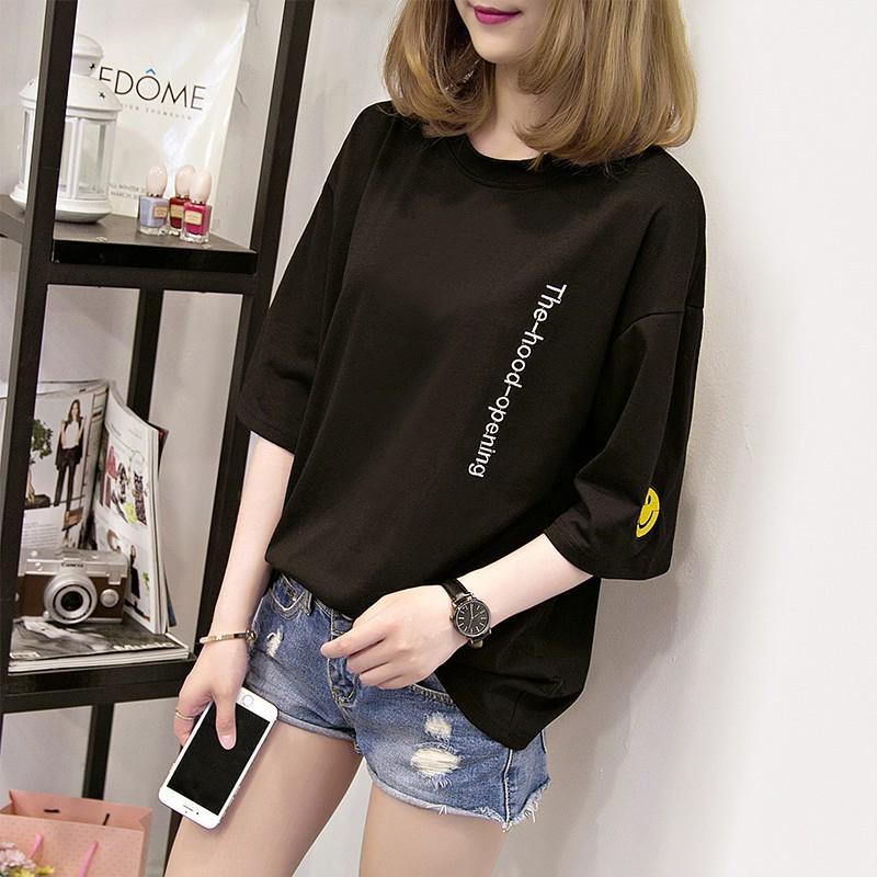 Áo thun nữ phong cách HÀN QUỐC cá tính - hiện đại - phong cách form rộng vải dày mịn - Thời Trang GMH (MC )