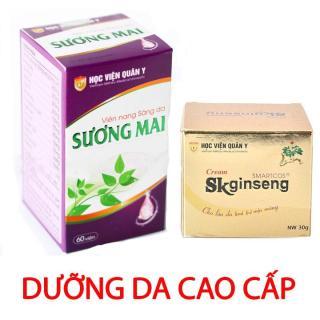 Combo kem dưỡng da Sk Ginseng và Viên uống trắng da Sương Mai HVQY thumbnail