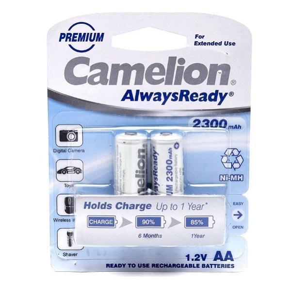 Vỉ 2 Pin Sạc máy ảnh, các thiết bị điều khiển Camelion 1.2V AA 2300 mAh ( Trắng )