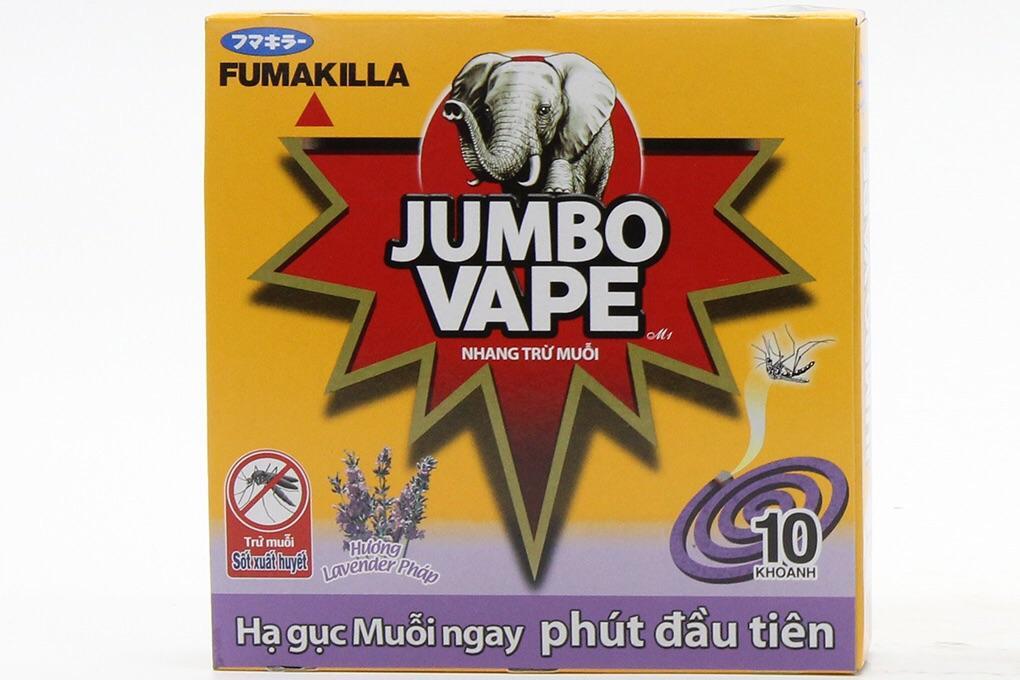 05 hộp Nhang muỗi Jumbo Vape Lavender (10 khoanh)
