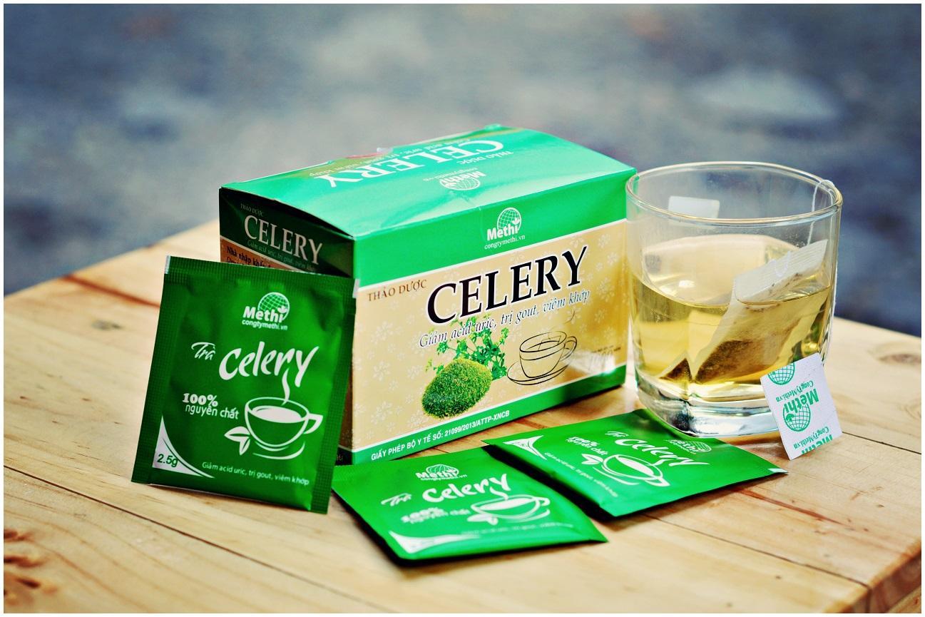 Cách giảm axit uric cực tốt từ trà Celery