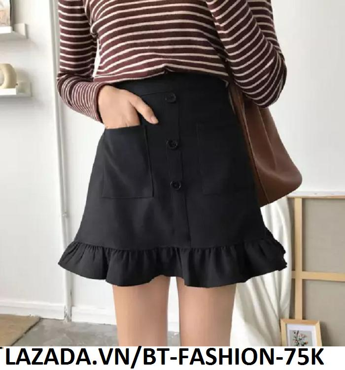 Chân Váy Ngắn Kaki Thời Trang Hàn Quốc Mới - BT Fashion (ĐC)