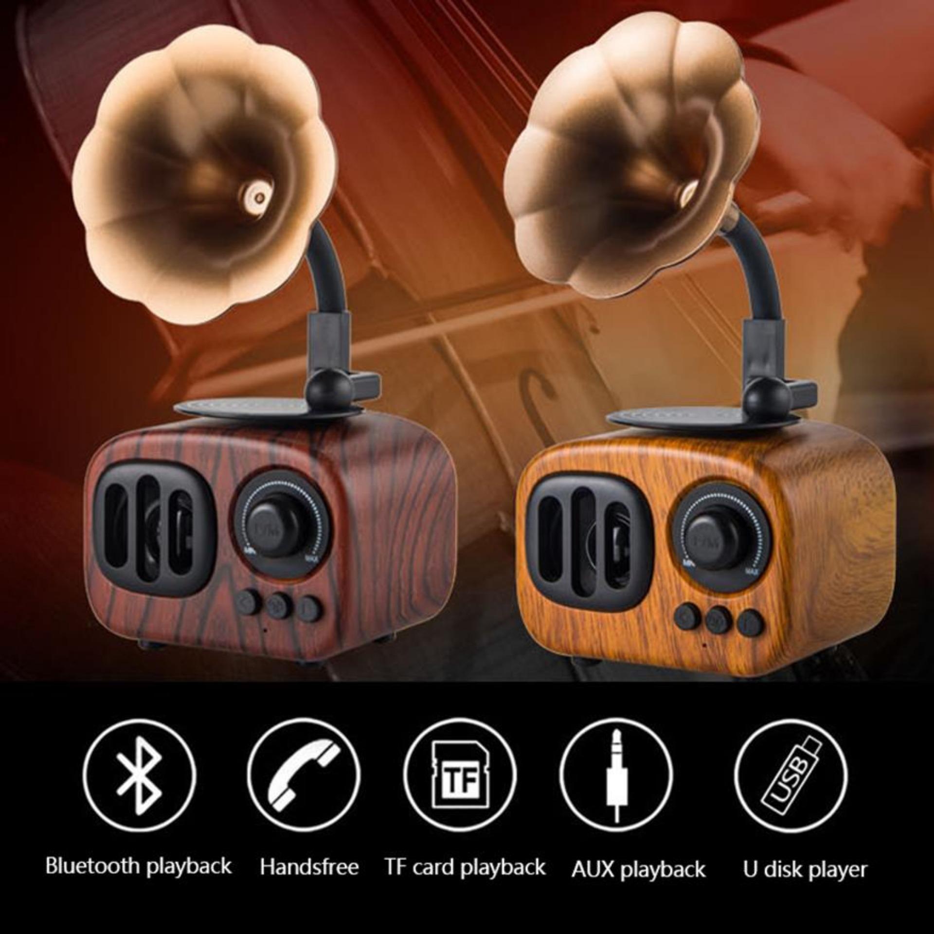 Loa Vi Tinh Nho Gon, Bo Loa Vi Tinh 5.1, Loa Cổ Điển AS90 Kết Nối Bluetooth 3.0 Lên Đến 10m, Đường Truyền Ổn Định, Chế Độ Rảnh Tay Nghe Điện Thoại
