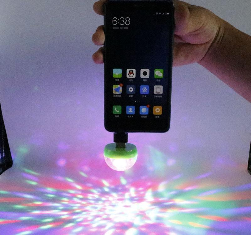 Đèn Led USBMicro cảm ứng âm thanh 7 màu
