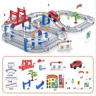 Bộ Ô TÔ ĐƯỜNG RAY - Đồ chơi lắp ráp đường đua ô tô hay nhất hiện nay thumbnail