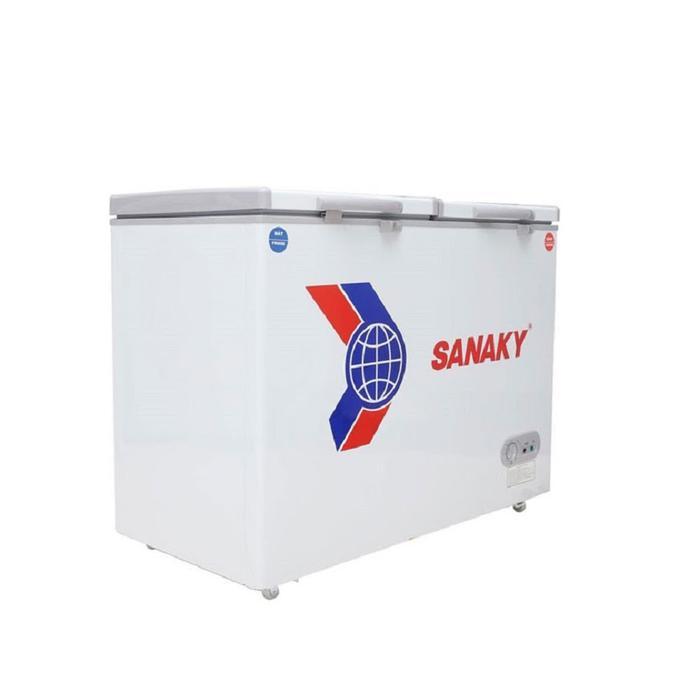 Tủ đông mát Sanaky VH-225W2, 2 ngăn, 2 cánh, 170 lít