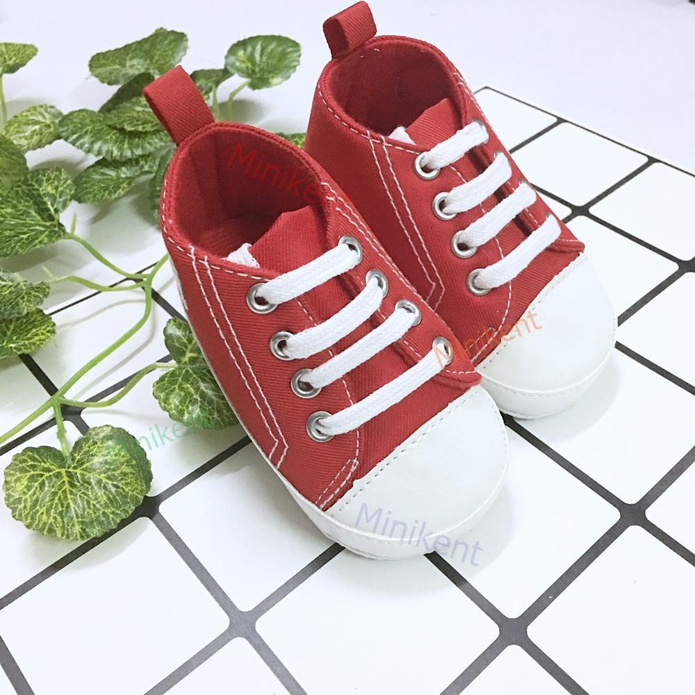 Giày tập đi buộc dây baby bé trai - bé gái