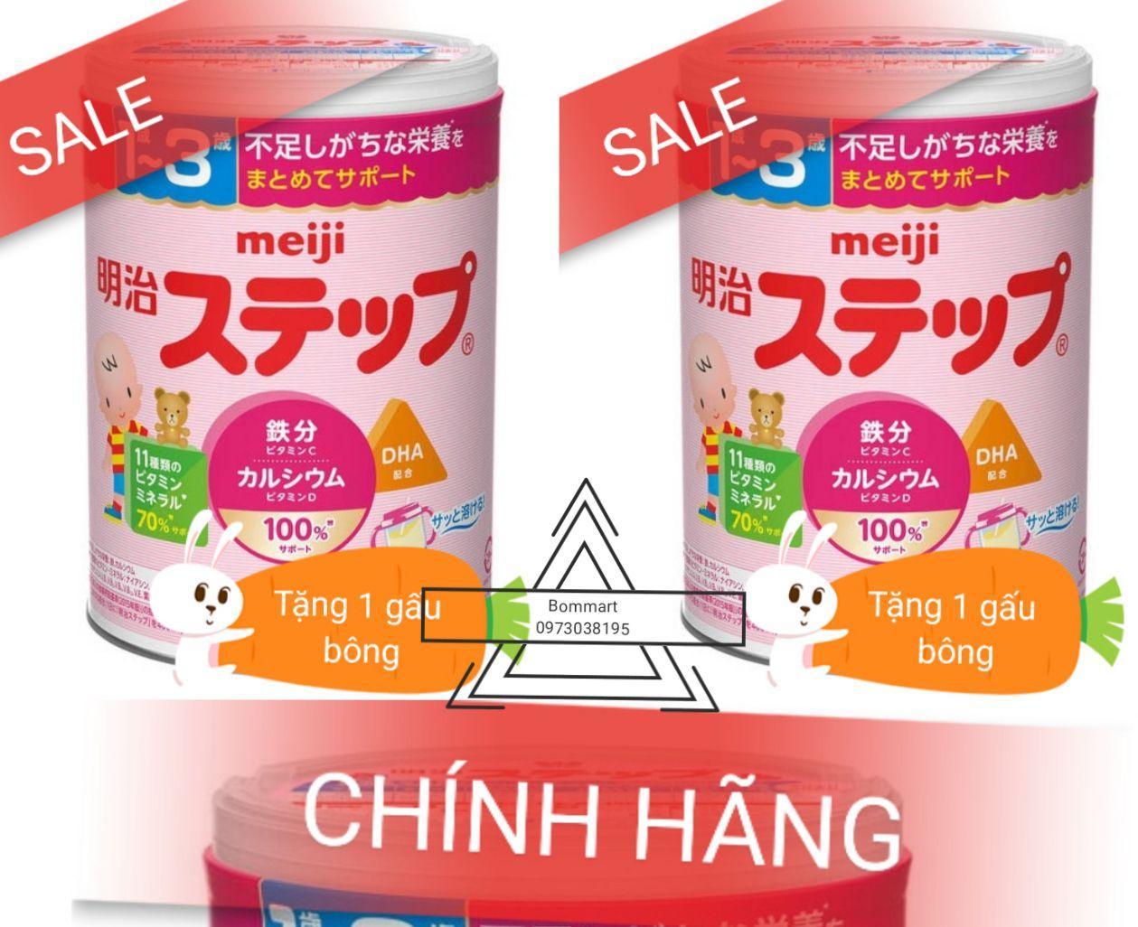 COMBO 2 hộp sữa mejji 1-3 nội địa nhật bản hộp 800g