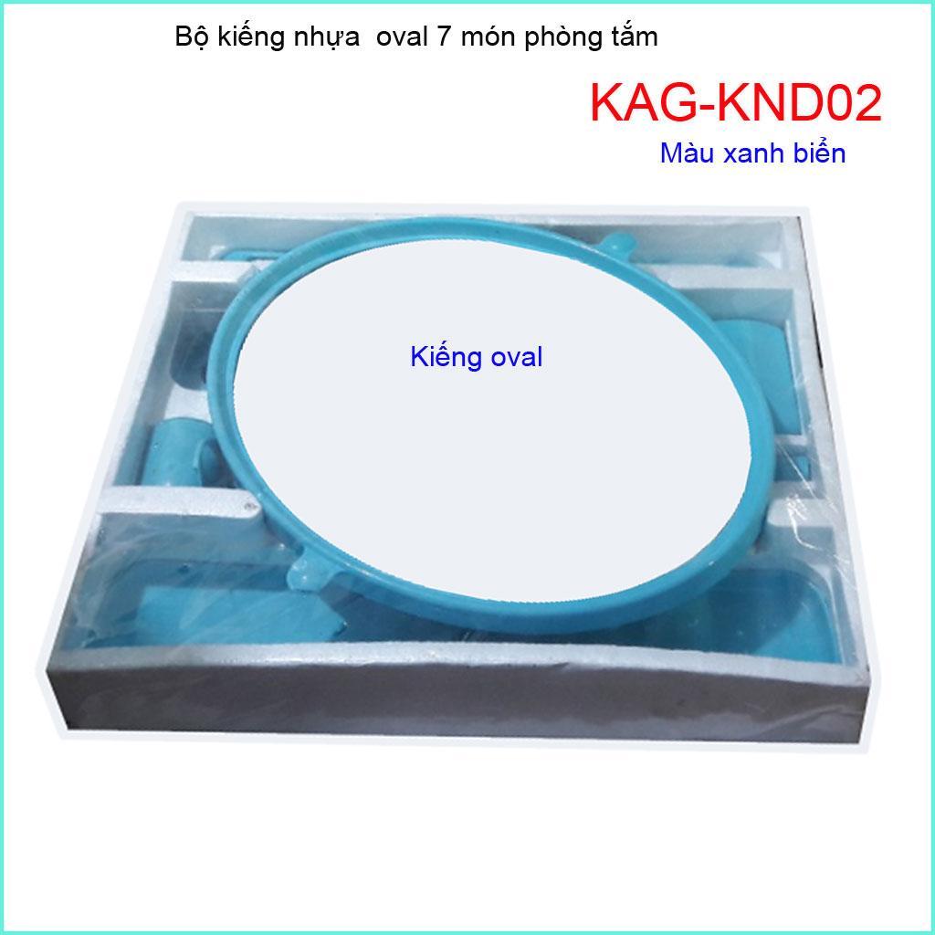 Kiếng nhựa oval 6 món, gương soi 6 món KAG-KND02