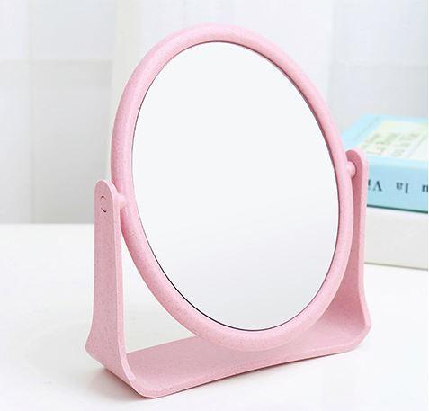 Gương trang điểm để bàn cao cấp, có chân đế. 2 mặt đều là gương