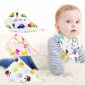 Set 5 khăn yếm tam giác cotton cho bé