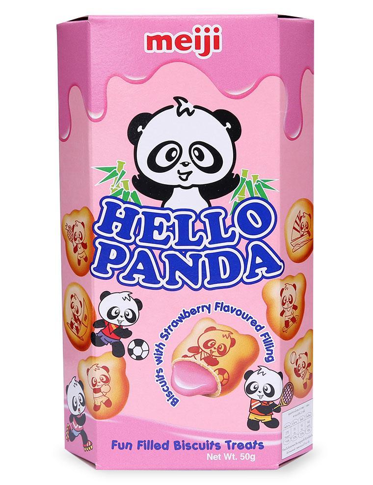 Bánh Meiji Hello Panda Vị Dâu 50g
