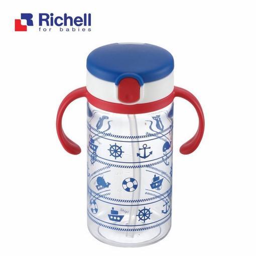 Cốc tập uống 3 giai đoạn tay đỏ Richell RC41013