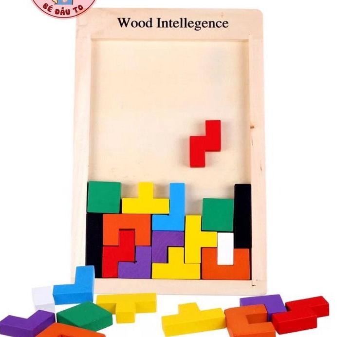 Đồ chơi bảng xếp hình bằng gỗ Russian Block