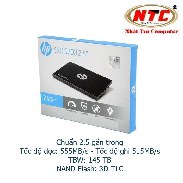Ổ Cứng SSD gắn trong HP S700 250GB SATA III 2.5in - Box Anh (đen)
