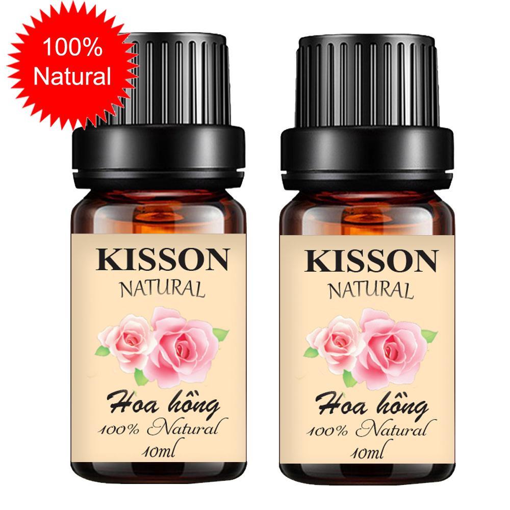 Combo 2 chai tinh dầu hoa hồng KISSON 10ml
