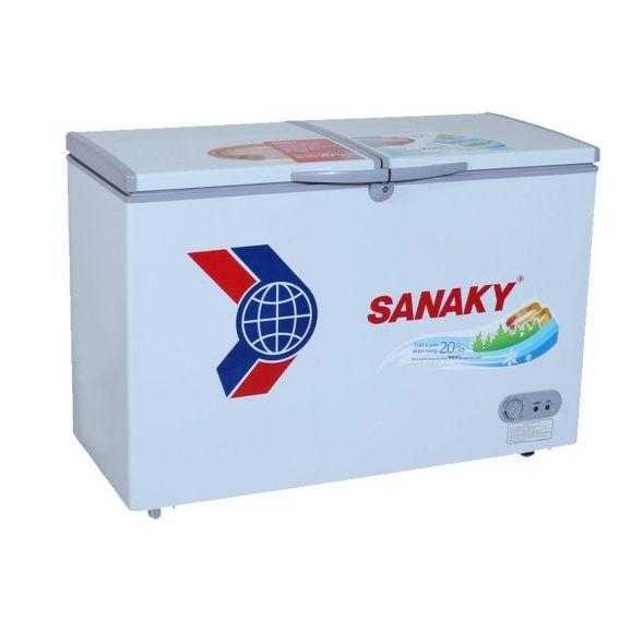 Tủ đông dàn đồng Sanaky VH-2599W1 ( 2 Ngăn Đông, Mát 250 Lít )