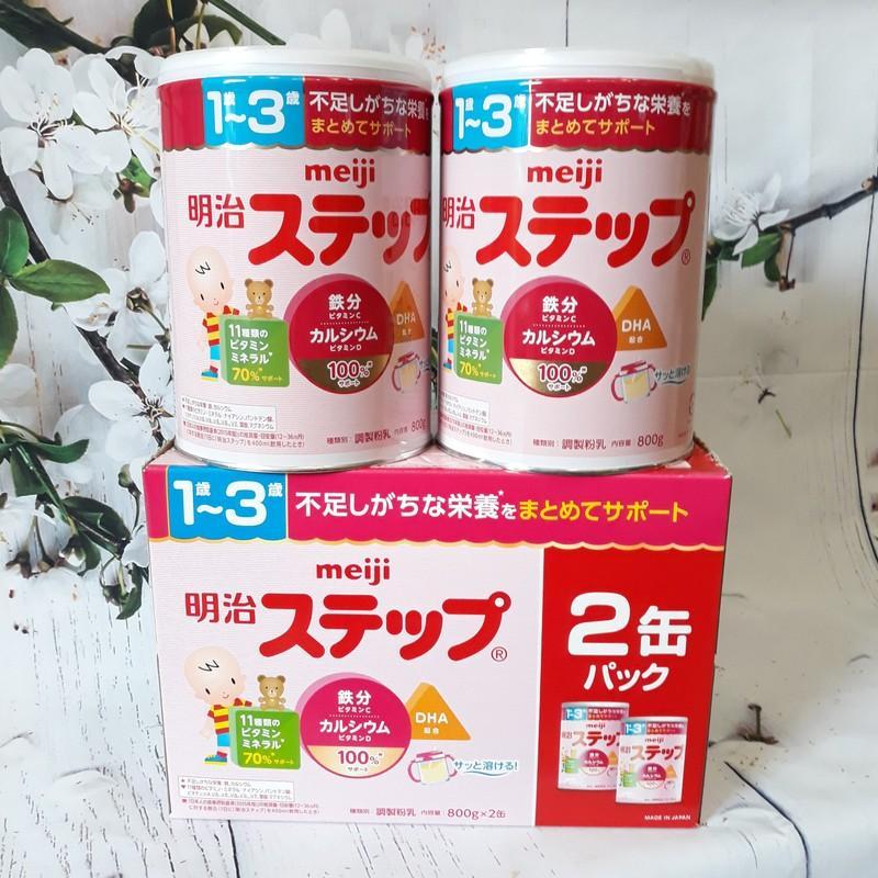 [COMBO 2 LON] Sữa Meiji số 9 800g (1 - 3 tuổi) Nội Địa