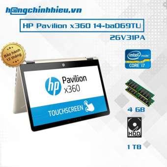 """laptop hp pavilion x360 14-ba069tu (2gv31pa) i7-7500u, 4gb, 14""""  cảm ứng , win 10- hãng phân phối chính thức"""