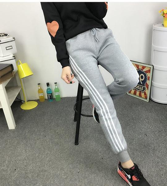 Quần Dài Nữ Thun Phom Rộng Jogger Thể Thao Thời Trang Hàn Quốc - BT Fashion (Ba Sọc 06)
