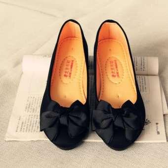 สวมใส่ทำงานเก่าปักกิ่งรองเท้าสีดำรองเท้า