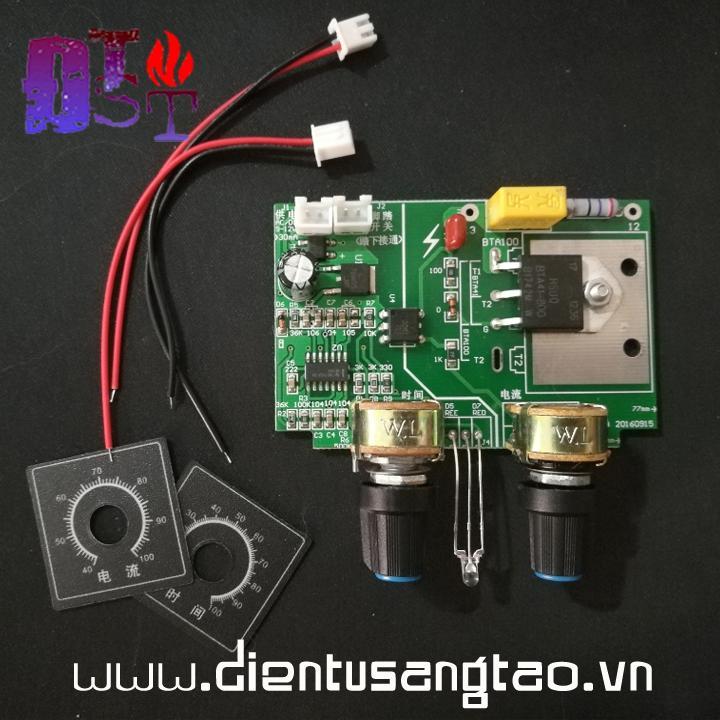 Mạch timer điều chỉnh dòng và áp máy hàn điểm, hàn cell