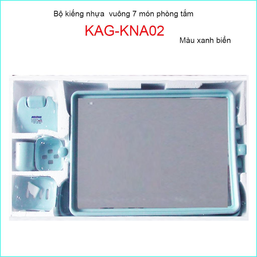 Kiếng nhựa 6 món, gương soi 6 món KAG-KNA02