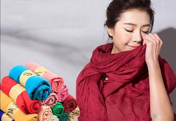 Combo 3 Khăn Đũi H&M Choàng Cổ Nữ Phong Cách Hàn Quốc.( giao màu ngẫu nhiên)