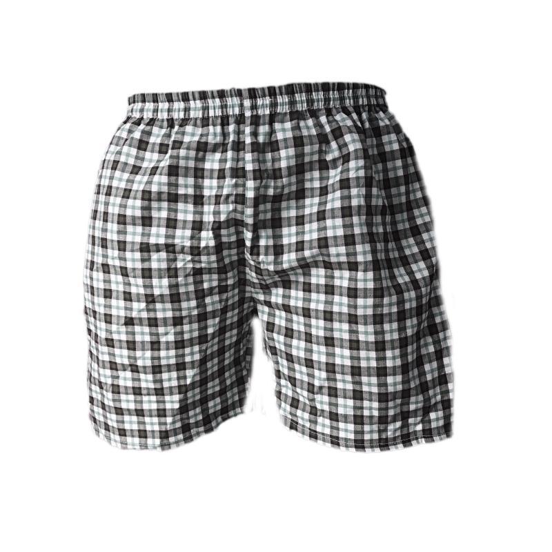 Quần đùi nam caro quần ngủ nam cotton thoáng mát QDN01 - 01 (nhiều màu)