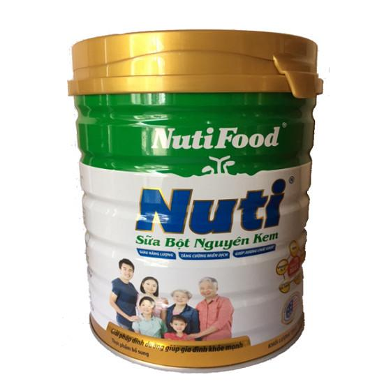 Sữa bột nguyên kem Nutifood hộp thiếc 900g