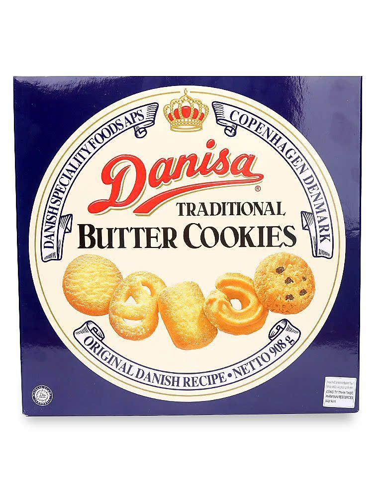 Bánh quy bơ Danisa hộp thiếc 908g