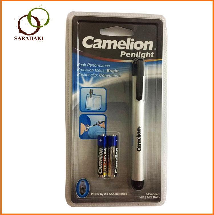 1 chiếc Đèn bút soi tai Camelion, kèm  2 pin