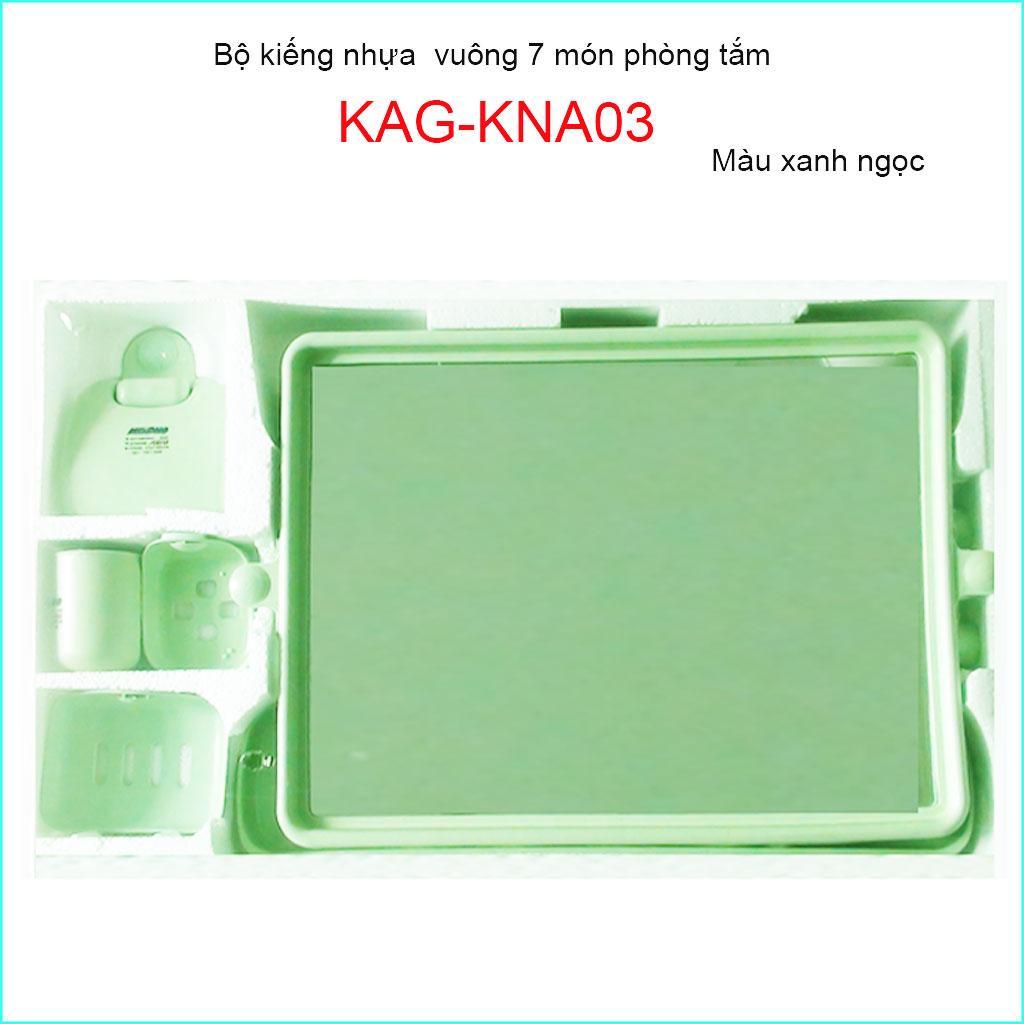 Kiếng nhựa 6 món, gương soi nhựa 6 món KAG-KNA03