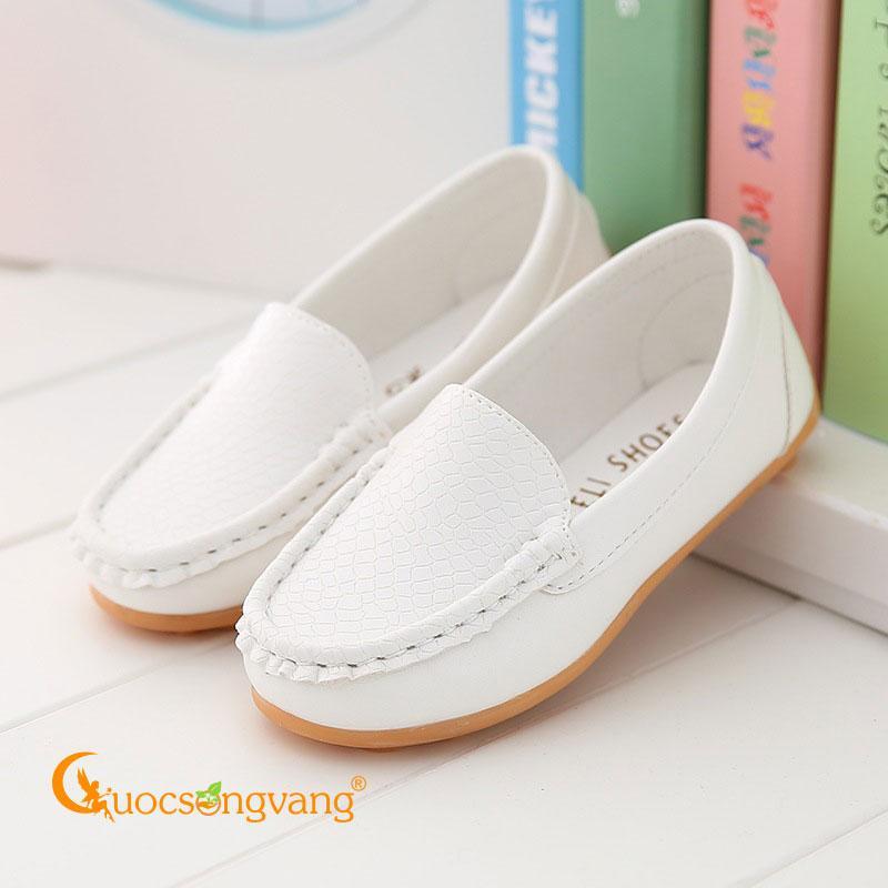 Giày mọi bé trai giày da bé trai GLG105