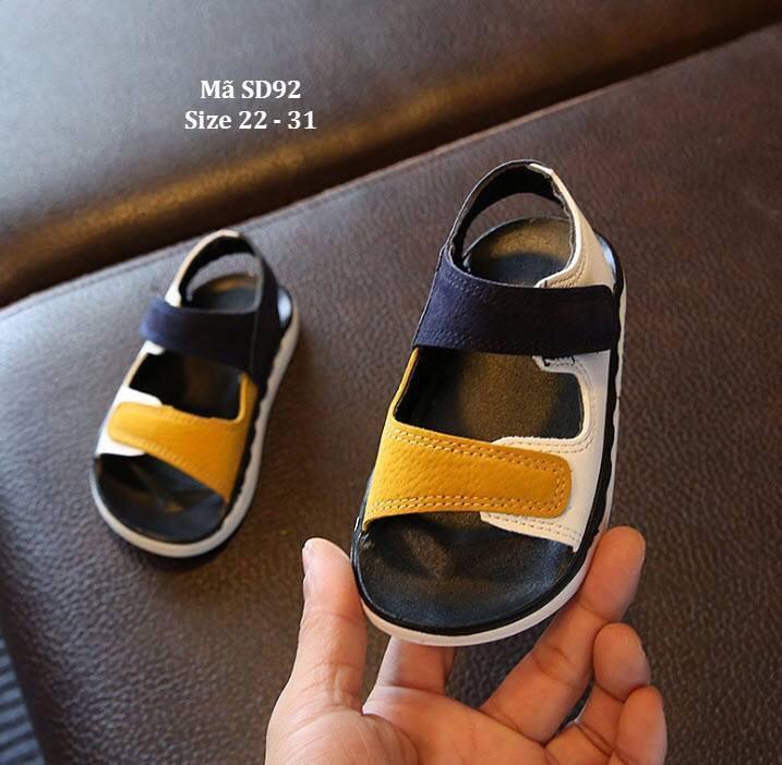Sandal quai hai sắc màu cho bé trai