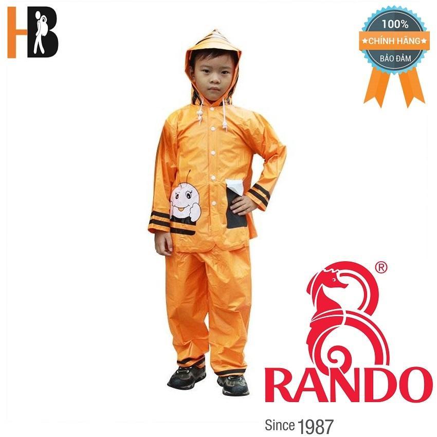 Áo mưa trẻ em bộ ong mật Rando CSPS-17 Size 2 0.9 – 1.05 m
