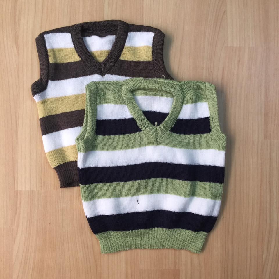 áo len sát nách bé trai, 6 -15kg.(combo 2 áo)