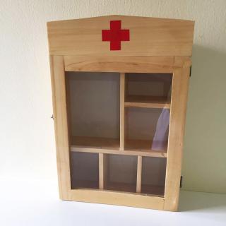 Tủ thuốc y tế gia đình - tủ thuốc gỗ treo tường trang trí nhà thumbnail
